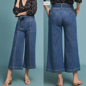 Pilcro Ultra High-Rise Cropped Wide-Leg Jeans